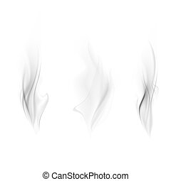 ベクトル, セット, 煙