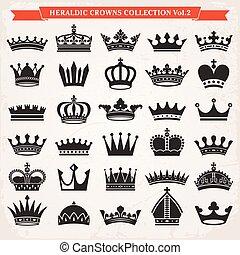 ベクトル, セット, 王冠