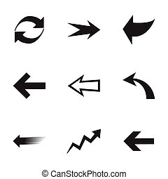 ベクトル, セット, 矢, アイコン