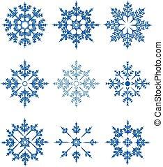 ベクトル, セット, 雪片