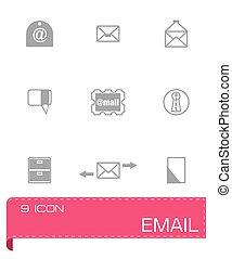 ベクトル, セット, 電子メール, アイコン