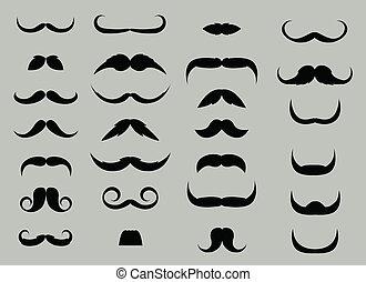 ベクトル, セット, 髭
