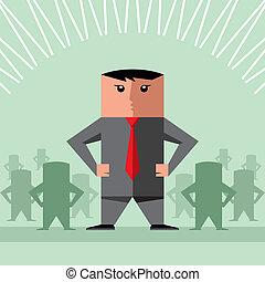 ベクトル, チームワーク, ビジネス
