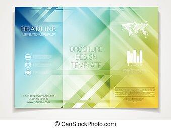 ベクトル, テンプレート, デザイン, パンフレット, tri-fold