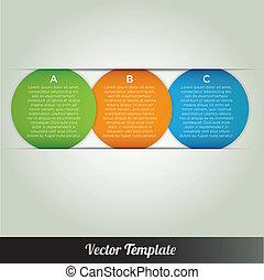 ベクトル, テンプレート, infographics
