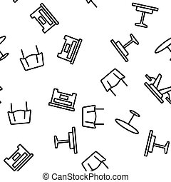 ベクトル, テーブル, 机, seamless, パターン