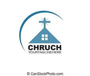 ベクトル, デザイン, アイコン, 教会, イラスト