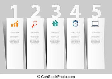 ベクトル, デザイン, イラスト, 要素, infographics