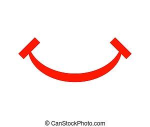 ベクトル, デザイン, テンプレート, ロゴ, 微笑, アイコン