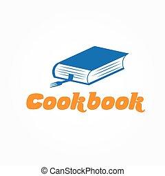 ベクトル, デザイン, テンプレート, 料理の本