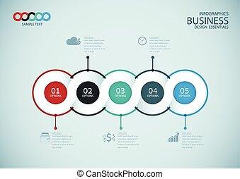 ベクトル, デザイン, テンプレート, infographics