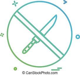 ベクトル, デザイン, 割り当てられる, ない, ナイフアイコン