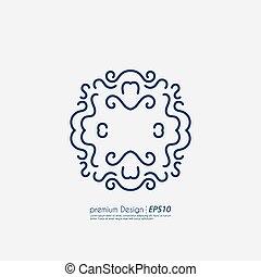ベクトル, デザイン, 線である, イラスト
