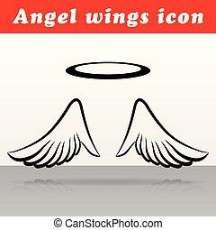 ベクトル, デザイン, 翼, 天使, アイコン