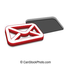 ベクトル, デザイン, 電子メール, アイコン