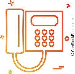 ベクトル, デザイン, 電話, アイコン