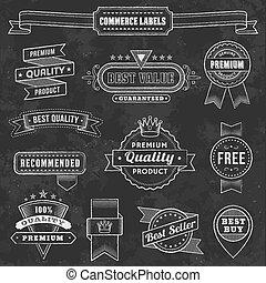 ベクトル, デザイン, 黒板, 要素