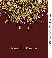 ベクトル, デザイン, ramadan, kareem