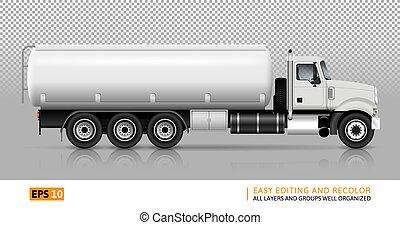 ベクトル, トラック, タンカー, イラスト