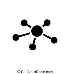 ベクトル, ネットワーク, ビジネス, アイコン