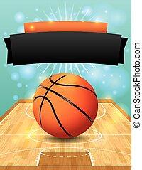 ベクトル, バスケットボール, フライヤ