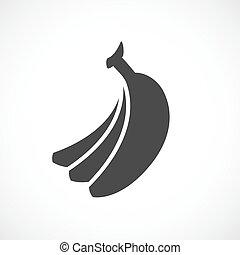 ベクトル, バナナ, pictogram