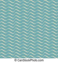 ベクトル, パターン, 抽象的, 青, seamless, 波