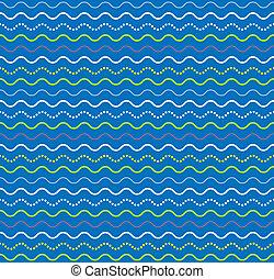 ベクトル, パターン, 抽象的, seamless, 波