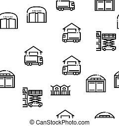 ベクトル, パターン, 貯蔵, seamless, 倉庫