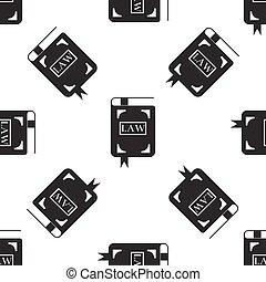 ベクトル, パターン, seamless, イラスト, バックグラウンド。, 本, 白, 法律, アイコン