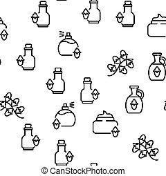 ベクトル, パターン, seamless, プロダクト, jojoba, 自然