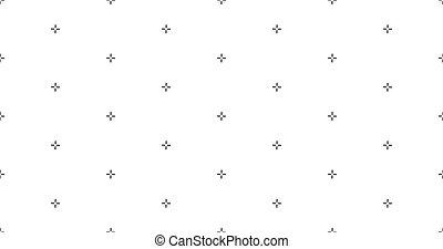ベクトル, パターン, seamless, 目標, プラス, バックグラウンド。, イラスト, 株, patern., 幾何学的, 交差点, stich