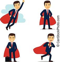 ベクトル, ビジネスマン, superhero