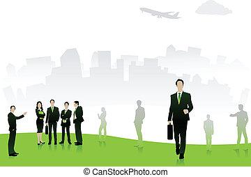 ベクトル, ビジネス 人々