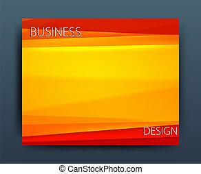 ベクトル, ビジネス, 企業である, フライヤ, デザイン, テンプレート, 旗, ∥あるいは∥