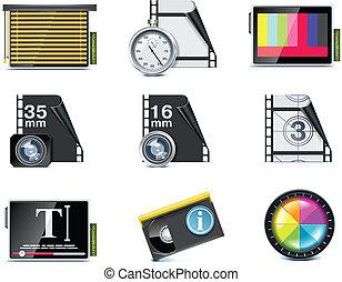 ベクトル, ビデオ, icons., p.7