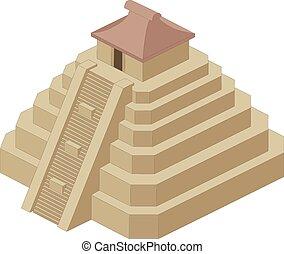ベクトル, ピラミッド, イラスト