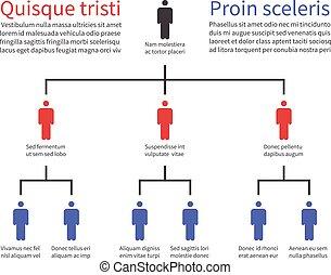ベクトル, ピラミッド, ビジネス 人々, 階層, 流れ, 木, チャート, icons., チャート, infographic, 構成, 構造