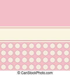 ベクトル, ピンク, カード