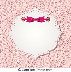 ベクトル, ピンク, フレーム, かわいい, イラスト