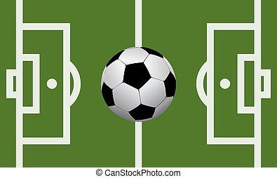 ベクトル, フィールド, サッカーボール, フットボール