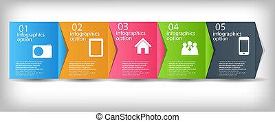 ベクトル, プロセス, 改善, ビジネス 実例, 概念, chart.