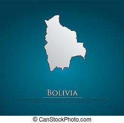 ベクトル, ボリビア, 紙カード, 地図