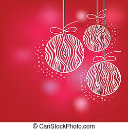 ベクトル, ボール, クリスマス, 背景