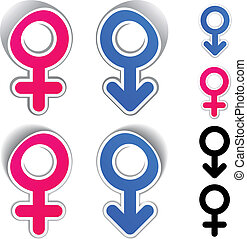ベクトル, マレ, 女性, シンボル