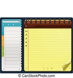 ベクトル, メモ用紙, template_horizontal