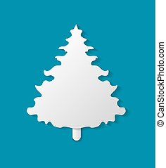 ベクトル, モミツリー, イラスト, ペーパーを切りなさい, クリスマス