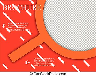 ベクトル, レイアウト, ビジネス, パンフレット, フライヤ, デザイン, a4, テンプレート, ぼやけ, 大きさ, 背景