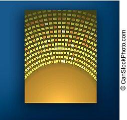 ベクトル, レイアウト, ビジネス, eps10., パンフレット, フライヤ, デザイン, a4, テンプレート, ぼやけ, 大きさ, 背景