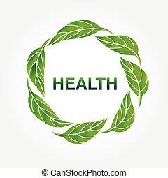 ベクトル, ロゴ, アイコン, 生態学的, 自然, leafs, デザイン